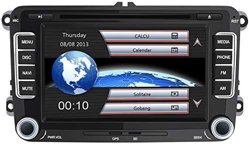 AWESAFE Radio Coche 7 Pulgadas con Pantalla Táctil 2 DIN para Volkswagen, Autoradio con Bluetooth/GPS/FM/RDS/CD DVD/USB/SD, Apoyo Mandos Volante, ...