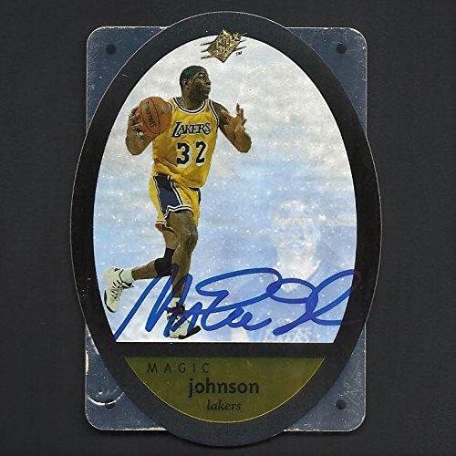 Upper Deck Magic Johnson Autograph Signed 1996 Card w/COA #24 Lakers ()