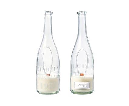 Wind Luz – Botella de vino con vela aromática blancas – orquídea
