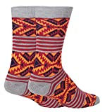 Men's Novelty Red and Orange Aztec Style