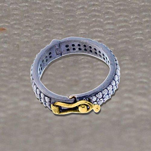 Christmas Sale 92.5 Sterling Silver Pave Diamond Loop Lock, Diamond Bracelet Loop Lock Finding Jewelry by Jaipur Handmade Jewelry