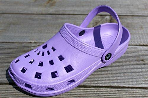 de Jardin de Femme Caoutchouc Dynamic Antonio Jardinage pour 39 de Chaussures en Taille Superlégères Chaussures Sabots Bain Violet EgUnpRq