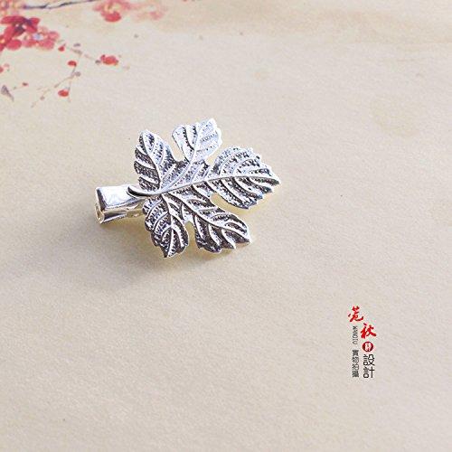 - Custom vintage copper Motif hairpin Maple Leaf Motif bangs clip word folder top folder edge clip Sen female line kk for women girl lady