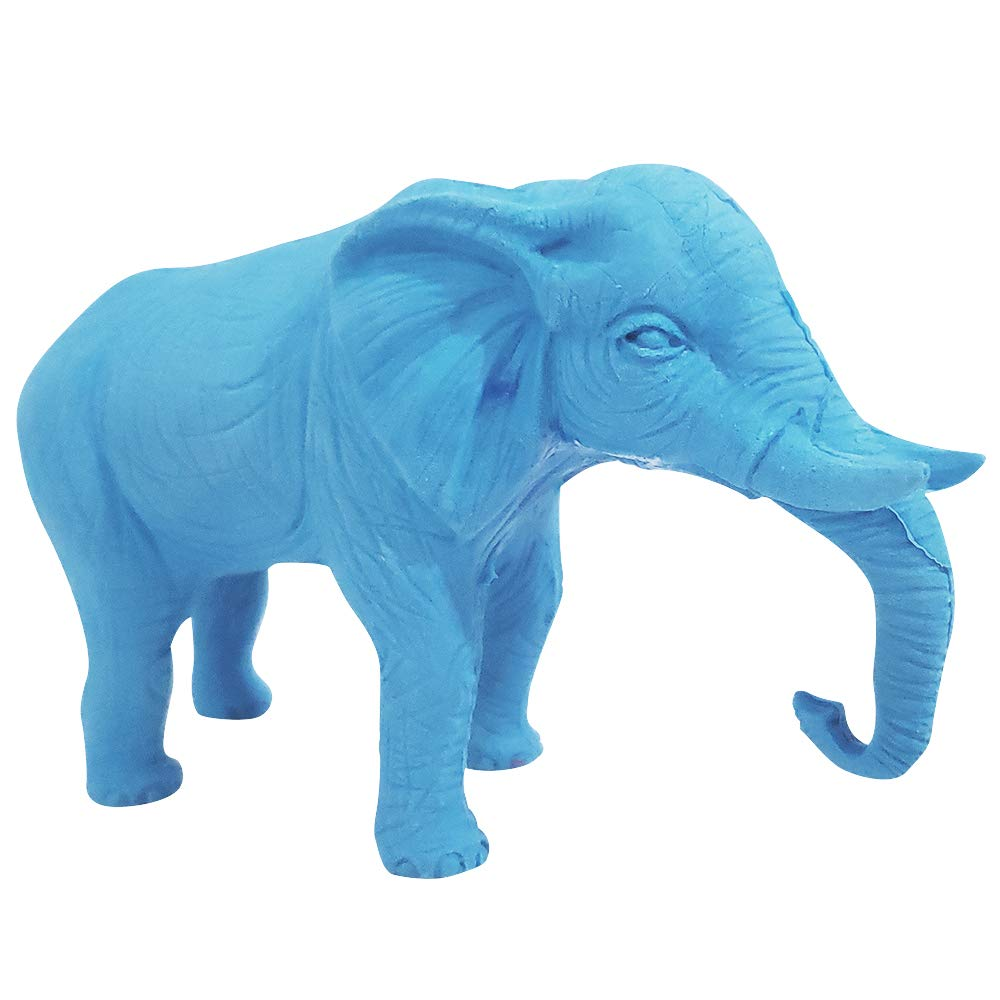 ArtCreativity Giant 3D Elephant Eraser for Kids Jumbo Pencil Rubber Huge Eraser Classroom Prizes Blue Birthday Party Favors for Boys and Girls Teacher Rewards Unique Stationery Supplies