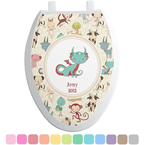 Chinese Zodiac Toilet Seat Decal - Elongated (Personalized) durable modeling