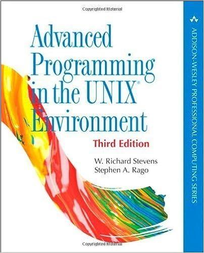 Descargar nuevos audiolibros Advanced Programming in the UNIX Environment (3rd Edition) (Addison-Wesley Professional Computing Series) by Stevens, W. Richard, Rago, Stephen A. 3rd (third) (2013) Paperback en español DJVU