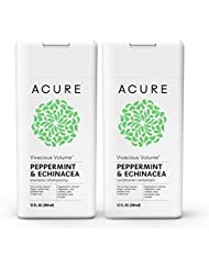 Acure Vivacious Volume Peppermint Shampoo & Conditioner, 12 Fluid Ounce