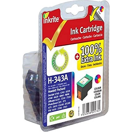 Inkrite Cartucho (HP 343) para HP PSC 1500 1610 Deskjet 5740 ...
