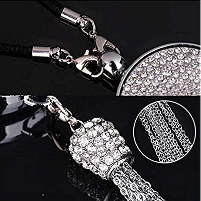 Shenwinfy Car Rearview Mirror Perfume Pendant for Ford Accessory, Car Rearview Mirror Diamond Perfume Air Freshener Hanging Ornament: Automotive