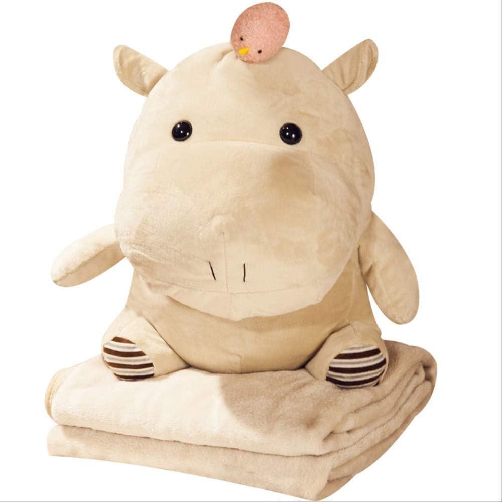 Caricatura Hippo Almohada Colcha De Dos Usos Manta De Muñeca Personalidad Lindos Juguetes para Niña