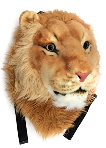VIAHART Authentic Tigerdome Lion Animal Head Backpack Bag Kn