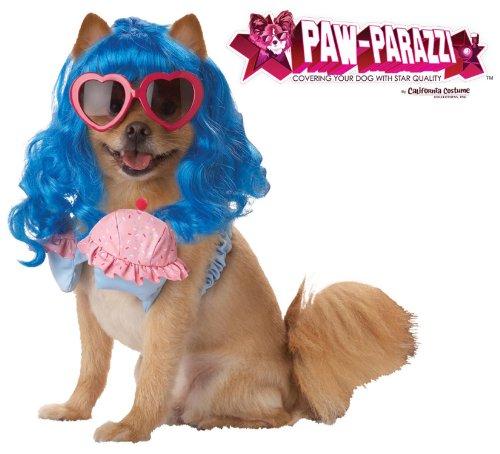 Pup-A-Razzi Cupcake Girl Girl Dog Costume, Small, Blue/Pink