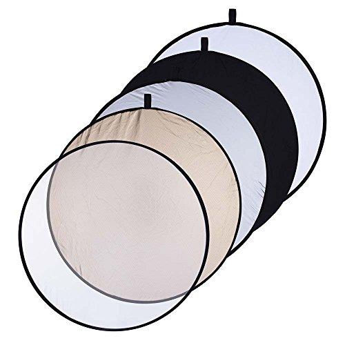 Interfit REF5132 Studio Essentials Medium - 32'' 5 - in - 1 Reflector, Soft Sun/Silver/White/Black/Translucent by Interfit