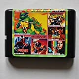 Taka Co 16 Bit Sega MD Game Sunser Riders/ Moonwalker/ Shinobi 2/ Spiderman/ Bare Knuckle/ Turtles 16 bit MD Game Card For Sega 16bit Game Player
