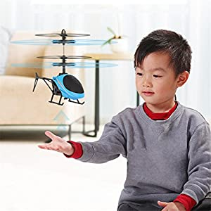 Kids Boys Indoor Outdoor Play 2CH RC Helicopter Copter Model Toy RTF Yellow