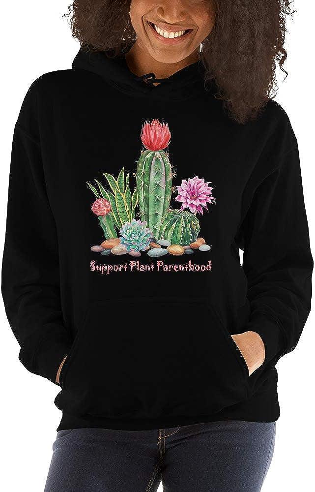 TEEPOMY Support Plant Parenthood Succulents Cactus Succa Aloe Gift Unisex Hoodie