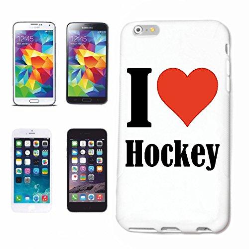 """Handyhülle iPhone 4 / 4S """"I Love Hockey"""" Hardcase Schutzhülle Handycover Smart Cover für Apple iPhone … in Weiß … Schlank und schön, das ist unser HardCase. Das Case wird mit einem Klick auf deinem Sm"""