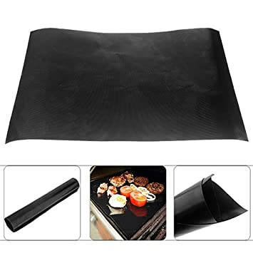happyhouse009 2Pcs Barbecue Grill Mat BBQ Grill Net Baking Mesh,Reusable Easy Baking BBQ Grill Mat Nonstick Cooking Sheet 40x33cm