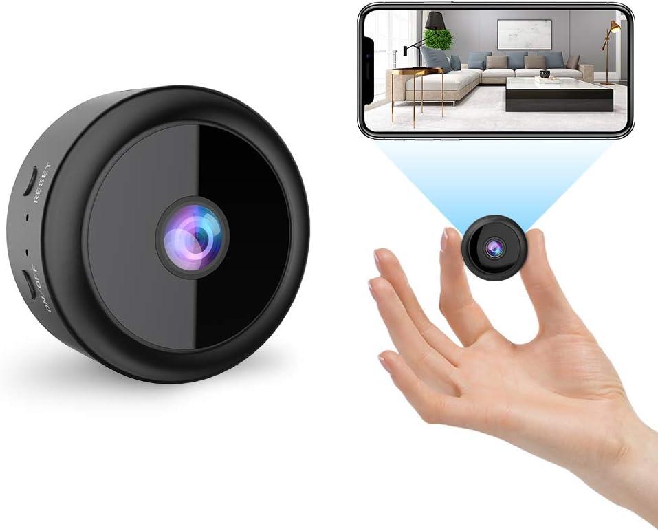 RIRGI Koiteck Cámaras espía Oculta, Cámaras Espía WiFi 1080P HD, con IR Visión Nocturna Detector de Movimiento, Grabadora de Video, Camaras de Seguridad Pequeña para Interior/Exterior (Negro)