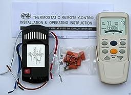 HAMPTON BAY CEILING FAN LCD THERMOSTATIC REMOTE CONTROL FAN-9T Complete Kit