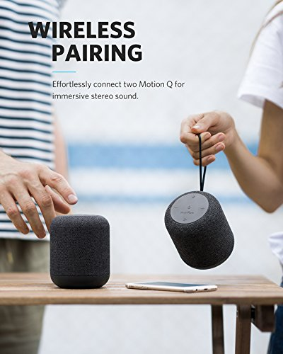 Soundcore Motion Q Portable Bluetooth Speaker by Anker, 16W Speaker with 360° Sound, BassUp Technology, and IPX7 Waterproof for Outdoor Activities and Parties