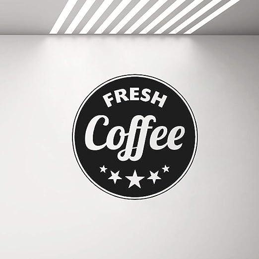 HNXDP Cafe Shop Sign Poster Wall Window Decals Fresh Coffee ...