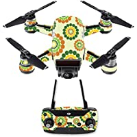 Skin for DJI Spark Mini Drone Combo - Hippie Flowers| MightySkins Protective, Durable, and Unique Vinyl Decal wrap cover | Easy To Apply, Remove, and Change Styles | Made in the USA