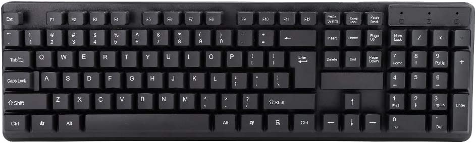 Light and Clicky Gaming Keyboard for Win PC Desktop Pomya Gaming Keyboars 104 Keys Wired Mechanical USB Game Mute Gaming Mechanical Keyboard
