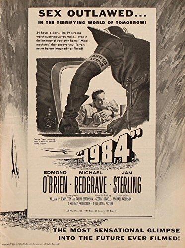 1984-1956-Vntg-orig-pressbook-George-Orwell-dystopian-film-adaptation-NF