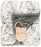 DINY Home & Style Cervantes Luxery Collection Sherpa Throw Luxury Berber Blanket 50'' x 60'' Reversible Fuzzy Microfiber All Season Blanket for Bed or Couch (Grey/Lilac)