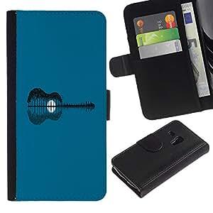 LECELL--Cuero de la tarjeta la carpeta del tirón Smartphone Slots Protección Holder For Samsung Galaxy S3 MINI 8190 -- Extracto de la guitarra --