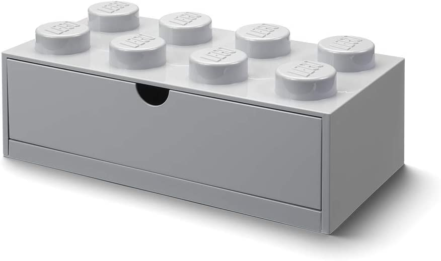 LEGO 40211740 Desk Drawer 8 Knobs, Grey