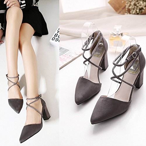 Koreanische Damen In High Heels Wildleder Sandalen Frauen -