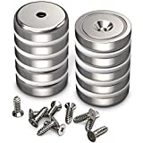 GREATMAG Cup Magnets, Industrial Strength Round Base Magnets, 90 lbs Holding Force, 1.26 Inches Diameter, Countersunk Hole for #10 Bolt, Pack of 10