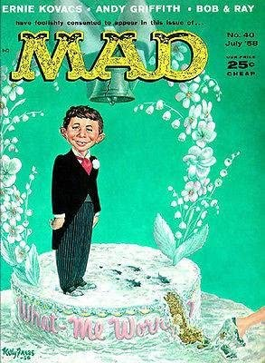 Mad Old Magazine cover Poster reproduction