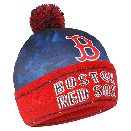 Forever Collectibles MLB Boston Red Sox Camo Light Up Knit Hat (Winter Hat Red Sox)