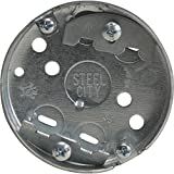 Steel City 36115C-30 Outlet Box, Round, Drawn Construction, 3-1/4-Inch Diameter by 1/2-Inch Depth, Galvanized, 30-Pack by Thomas & Betts