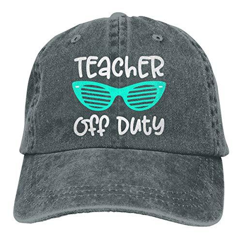 (Women Men Adjustable Baseball Cap Teacher Off Duty Snapback Hat Deep Heather)