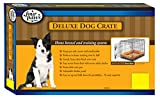 "Four Paws Single Door Deluxe Dog Crate with Divider Panel, 36"" by 22"" by 25"""
