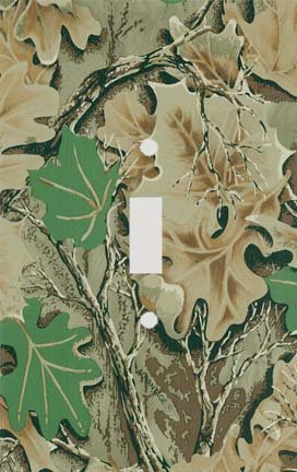 Camo Leaves Pattern Decorative Switchplate Cover