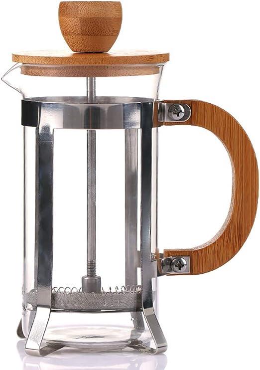 KAFEIHU Cafetera de Madera de bambú/método Olla de presión Filtro ...