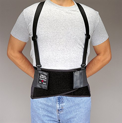 (Allegro 7195-05 - Deluxe SpanBak Back Support Belt, Size: 2X-Large, Belt Closure Type: Hook & Loop, Suspenders Type: Adjustable)
