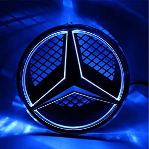 cszlove car front grilled star emblem led. Black Bedroom Furniture Sets. Home Design Ideas
