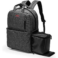 Amzbag Camera Backpack SLR/DSLR Camera Bag Outdoor Bag With 15.6 Inch Laptop compartment Include Removable Camera Organizer Carrying Bag for All SLR/DSLR (Black)
