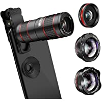 Phone Camera Lens, KNGUVTH 5 in 1 Cell Phone Lens Kit -...
