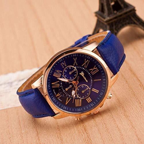 Foshin Lovers Fashion Synthetic Leather Band Round Analog Quartz Wrist Watch Wrist Watches