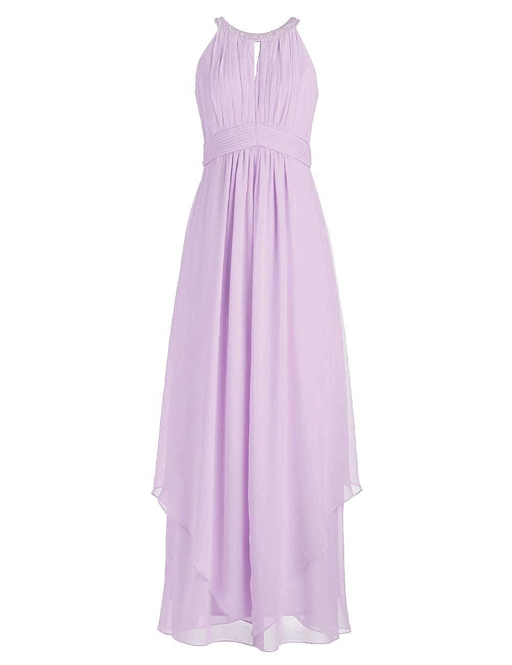 Lavender Bridesmaid Dresses Halter Evening Party Dress Long Bridesmaid Gowns Ruffles