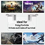 Mobile Game Controller, Jizmo High Sensitive Shoot and Aim Keys L1R1 Triggers for PUBG Mobile/Fortnite / Knives Out TPS/FPS Games, Compatible with Android iPhone