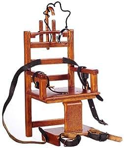 Silla Eléctrica en Miniatura para Casa de Muñecas Mobiliario Cárcel