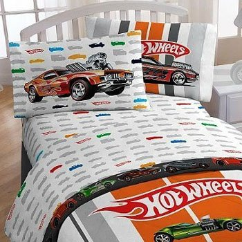 Charming Mattel Hot Wheels Full Bed Sheet Set